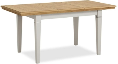 Global Home Chester Oak and Soft Grey Painted Butterfly 150cm-200cm Extending Dining Table