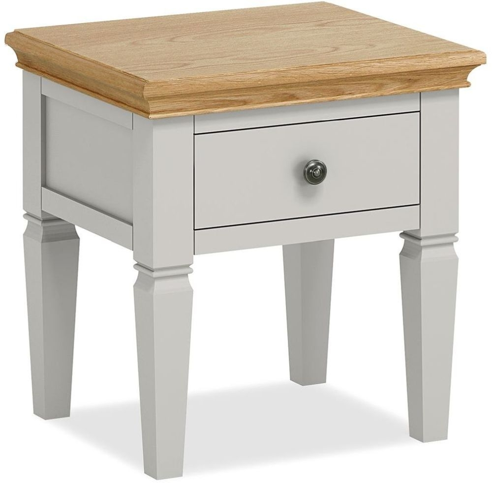 Global Home Chester Painted 1 Drawer Lamp Table