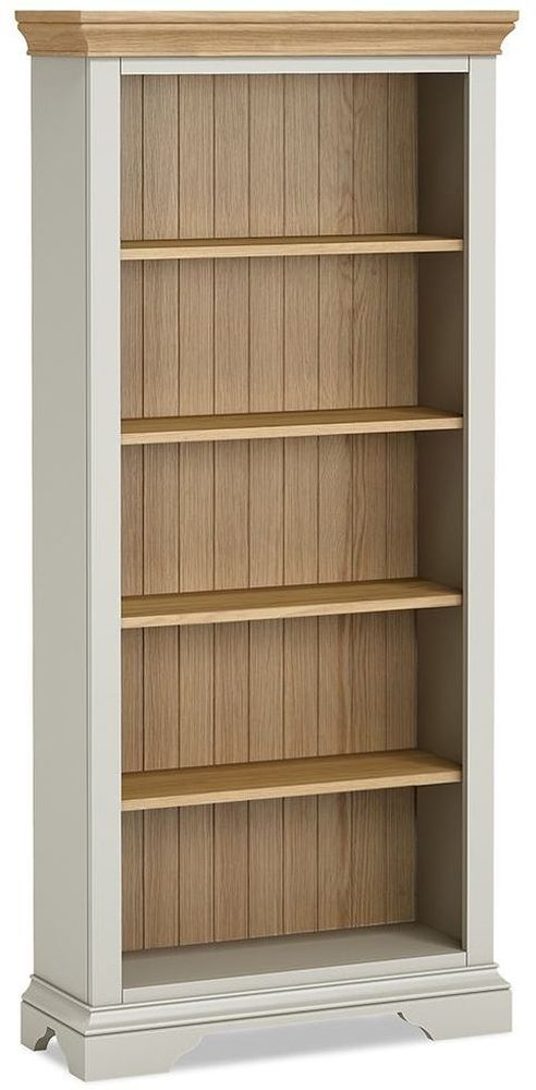 Global Home Chester Tall Bookcase - Oak and Soft Grey Painted