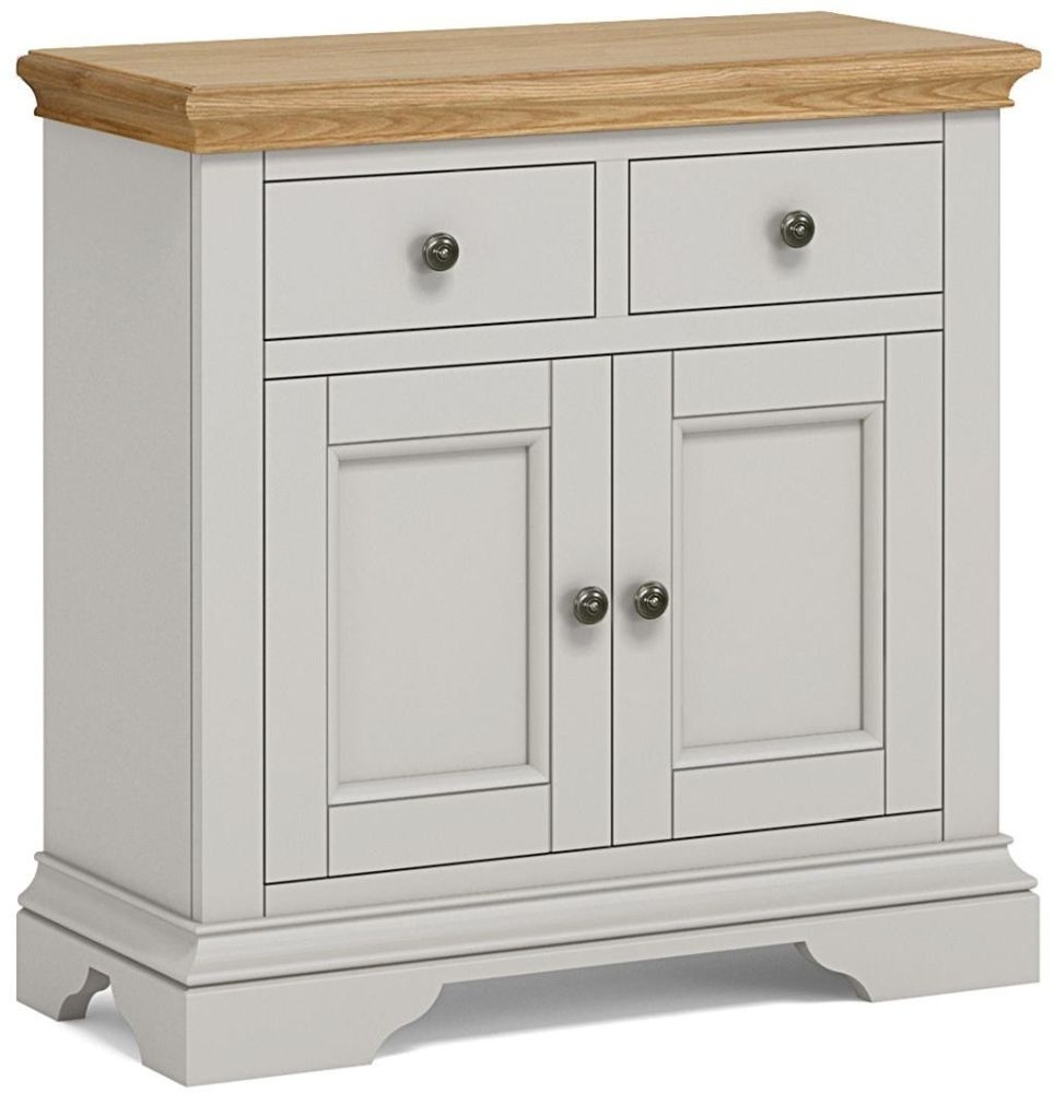 Global Home Chester Painted 2 Door 2 Drawer Mini Narrow Sideboard