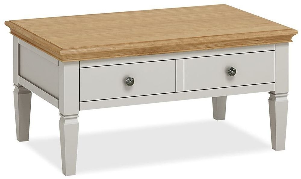 Global Home Chester Coffee Table - Oak and Soft Grey Painted