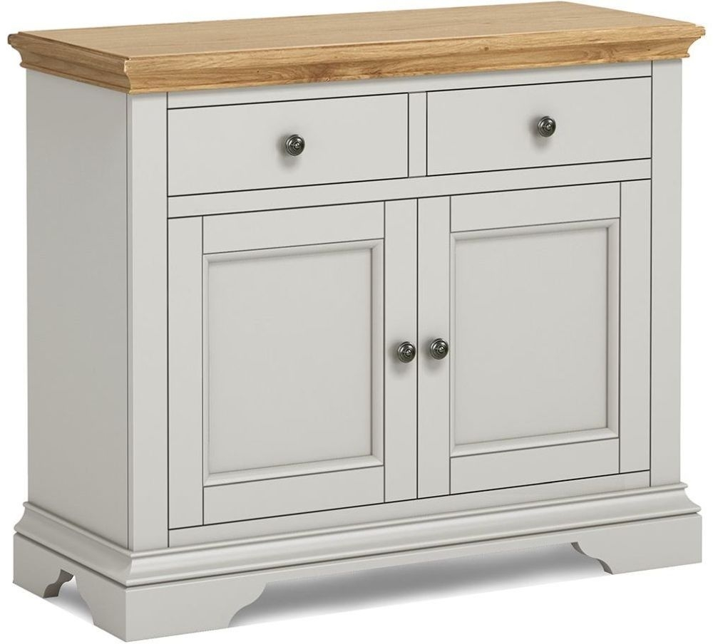Global Home Chester Medium Sideboard - Oak and Soft Grey Painted