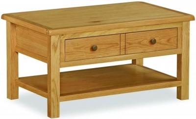 Clearance - Global Home Cork Lite Oak Coffee Table - New - E-167