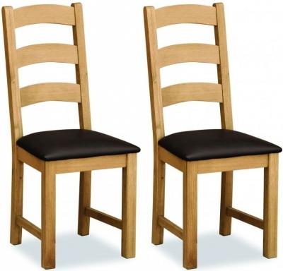 Global Home Cork Lite Oak Dining Chair (Pair)