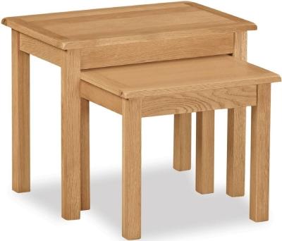 Global Home Cork Lite Oak Nest of Tables