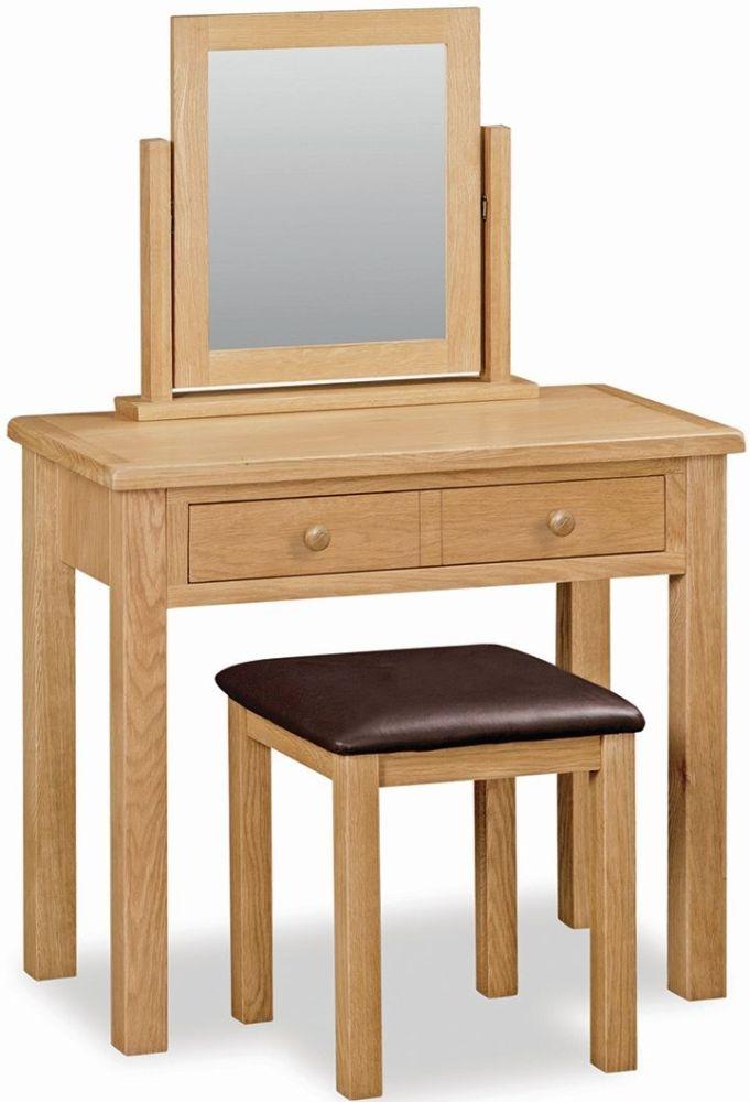 Global Home Cork Lite Oak Dressing Table Set