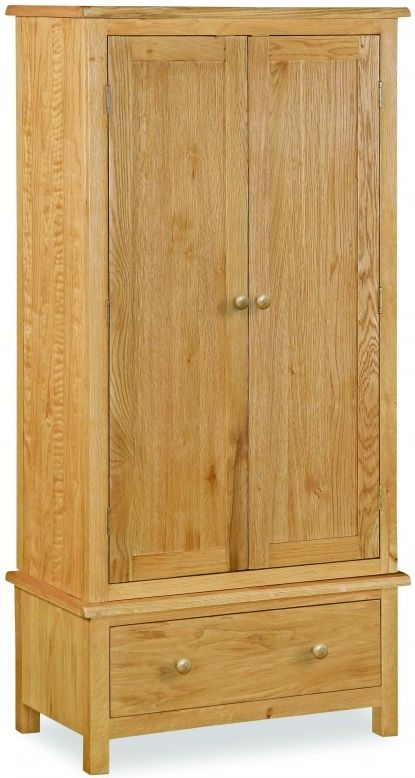 Global Home Cork Lite Oak 2 Door 1 Drawer Double Wardrobe