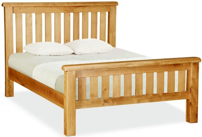 Global Home Cork Oak Bed - Slatted High Foot End