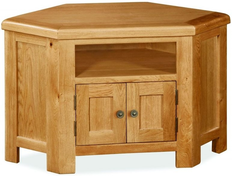 Global Home Cork Corner TV Unit - Oak