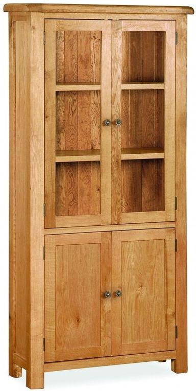 Global Home Cork Oak Display Cabinet - 4 Door