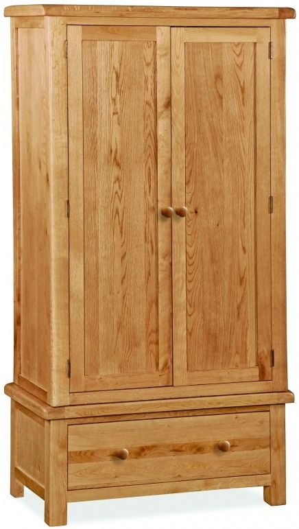 Global Home Cork Oak 2 Door 1 Drawer Wardrobe