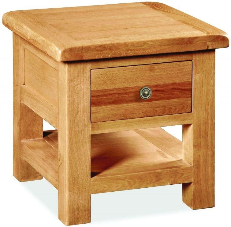 Global Home Cork Oak 1 Drawer Lamp Table