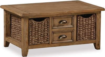 Global Home Cortona Large Coffee Table with Baskets
