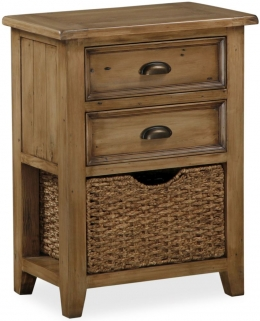 Global Home Cortona Oak Telephone Table with Baskets