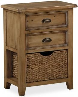 Global Home Cortona Oak Telephone Table with Baskets