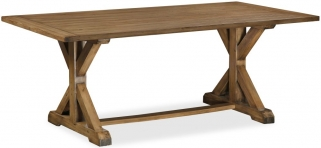 Global Home Cortona Oak Trestle Dining Table