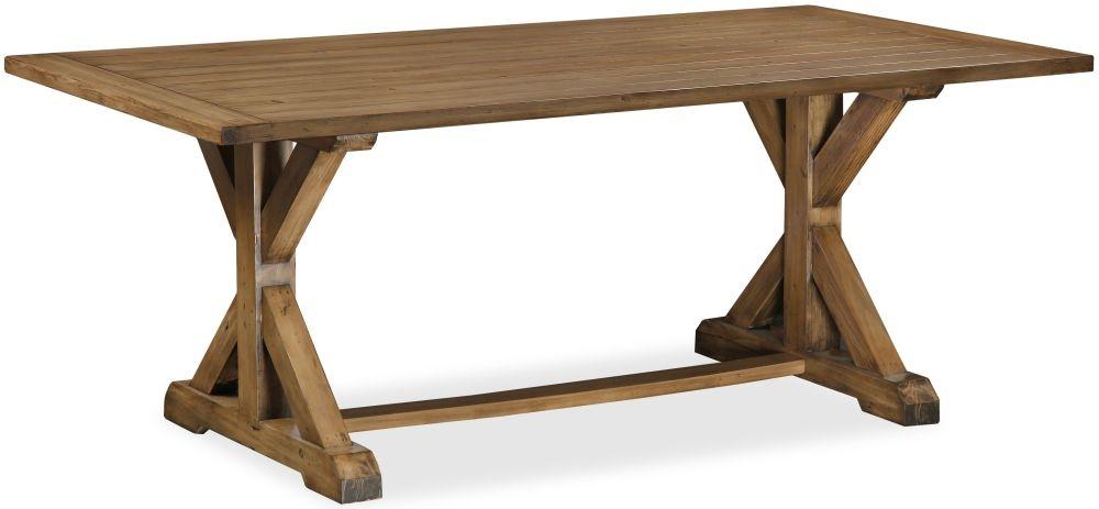 Global Home Cortona Oak Trestle Dining Table