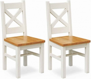 Global Home Cuisine Painted Dining Chair (Pair)