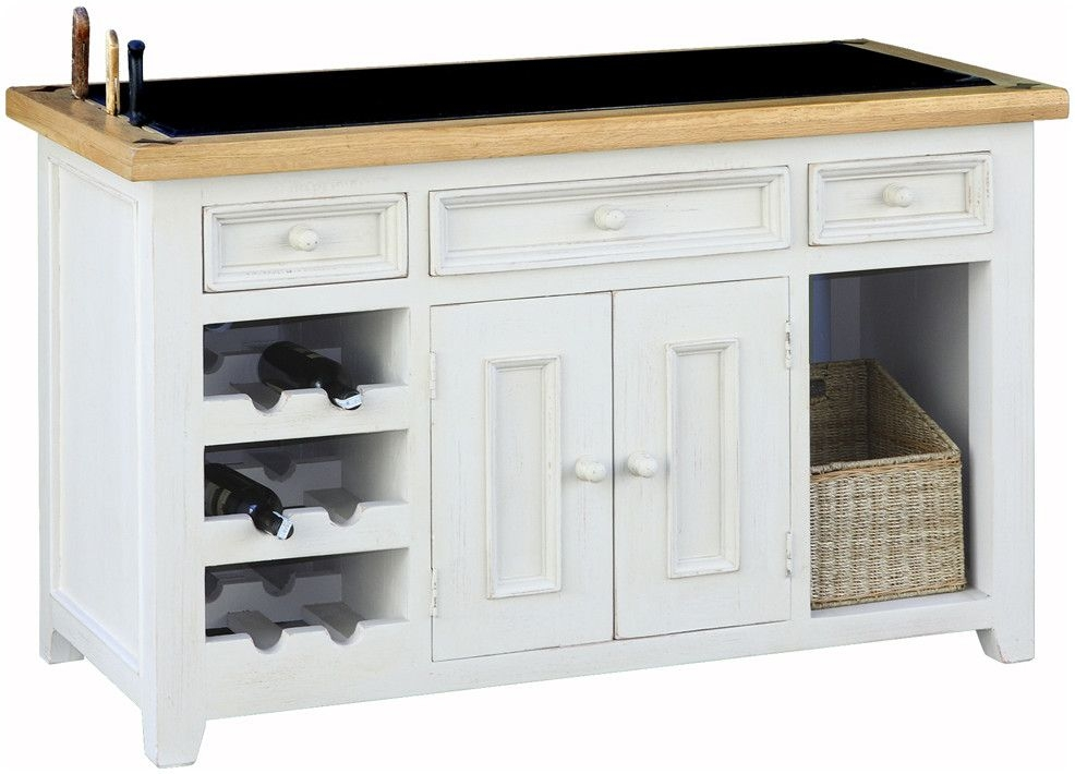 Global Home Cuisine Painted Kitchen Island Unit