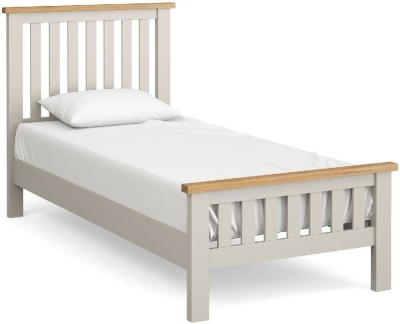 Global Home Devon Oak and Soft Cotton Painted 3ft Single Slatted Bed