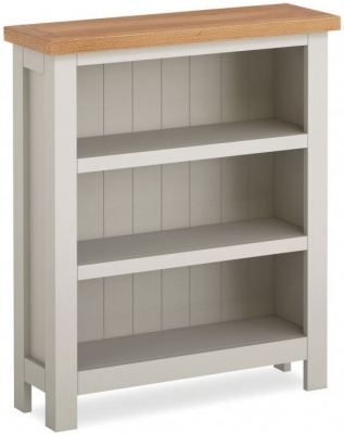 Global Home Devon Oak and Soft Cotton Painted Low Bookcase