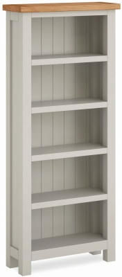 Global Home Devon Oak and Soft Cotton Painted Bookcase