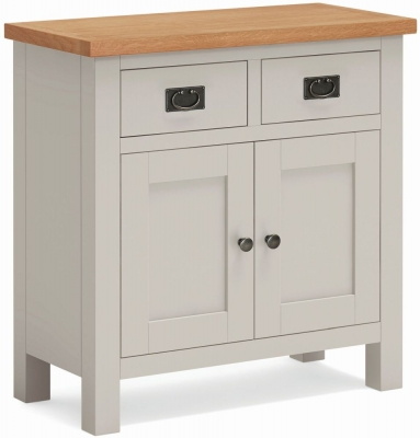 Global Home Devon Oak and Soft Cotton Painted Mini Sideboard