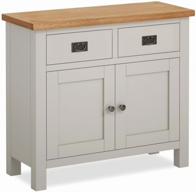 Global Home Devon Oak and Soft Cotton Painted Small Sideboard