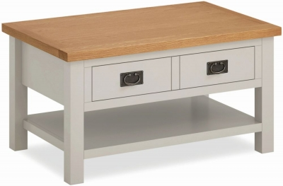 Global Home Devon Oak and Soft Cotton Painted Coffee Table