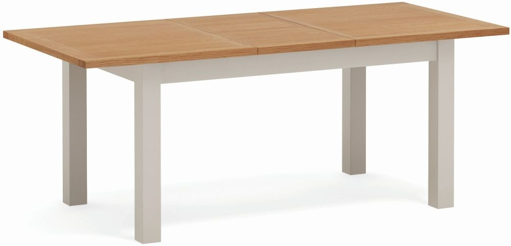 Global Home Devon Large Extending Dining Table - Oak and Soft Cotton Painted