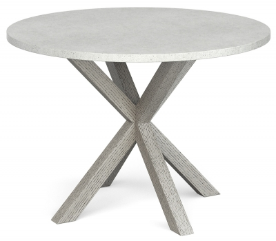 Global Home Docklands Grey Washed 110cm Round Dining Table
