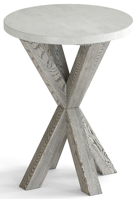 Global Home Docklands Grey Washed Round Side Table