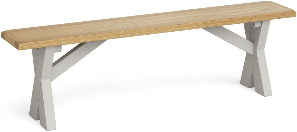 Product photograph showing Global Home Guilford Painted Cross Leg Bench