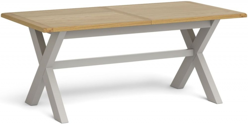 Global Home Guilford Painted Cross Leg Extending Dining Table