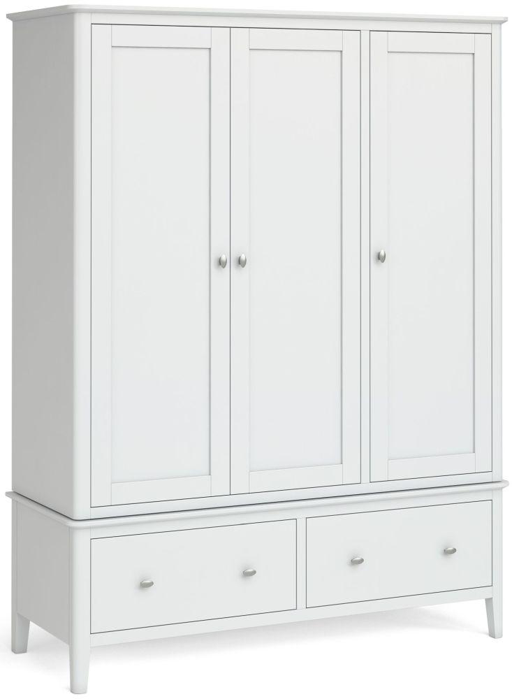 Global Home Hampstead White 3 Door Wardrobe