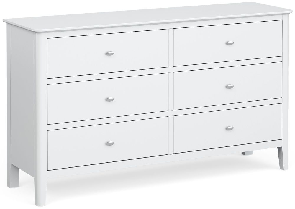 Global Home Hampstead White 6 Drawer Chest