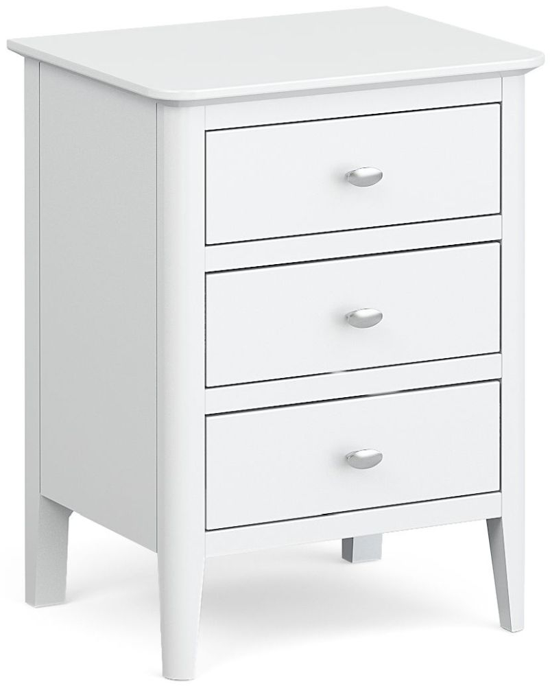 Global Home Hampstead White Bedside Cabinet