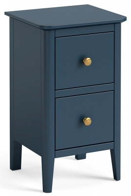 Global Home Harrogate Blue Painted Narrow Bedside Cabinet