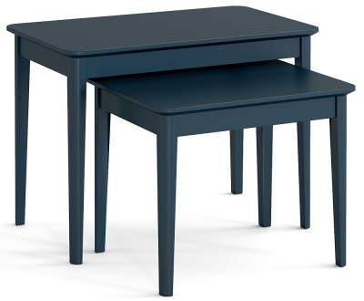 Global Home Harrogate Blue Painted Nest of Table