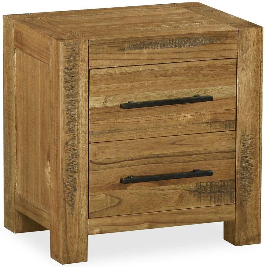 Global Home Houston Bedside Cabinet - 2 Drawer