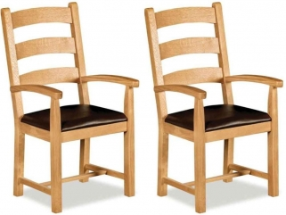 Global Home Imperial Oak Dining Armchair (Pair)