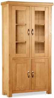 Global Home Imperial Oak Display Cabinet