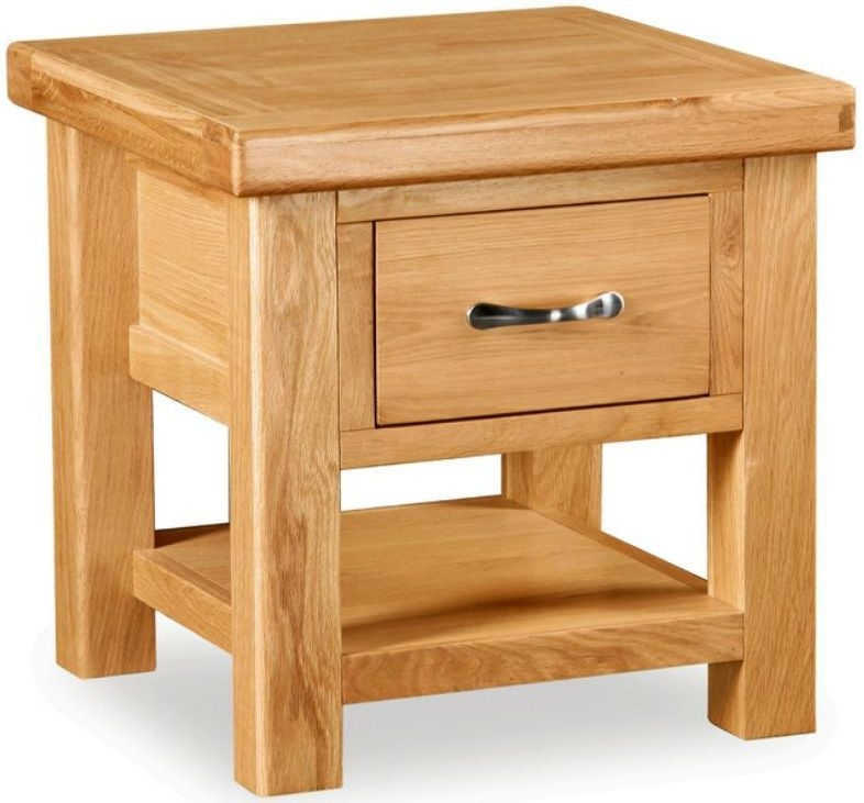 Global Home Imperial Oak Lamp Table