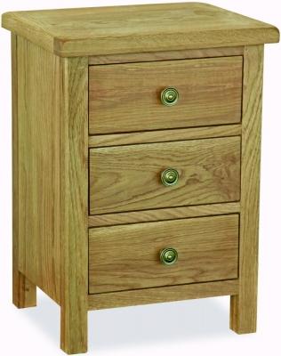 Global Home Lovell Lite Oak Compact Bedside Cabinet