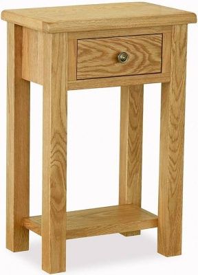 Global Home Lovell Lite Oak Telephone Table