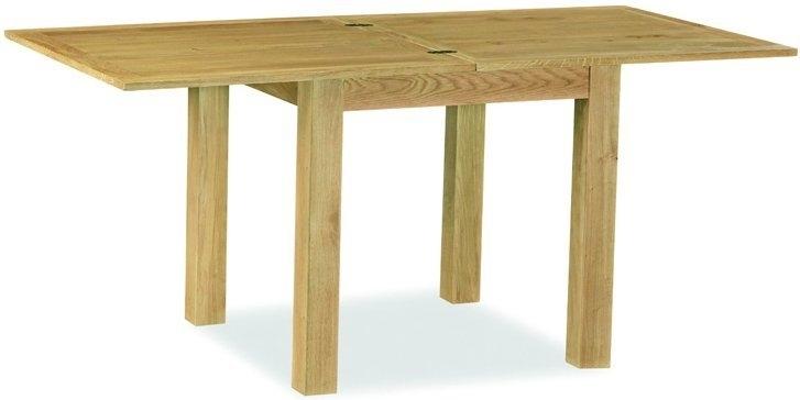 Global Home Lovell Lite Oak Flip Top Rectangular Extending Dining Table - 85cm