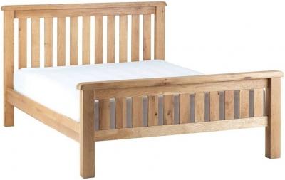 Global Home Lovell Oak Slatted Bed