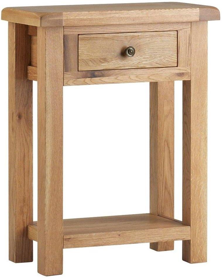 Global Home Lovell Oak Telephone Table