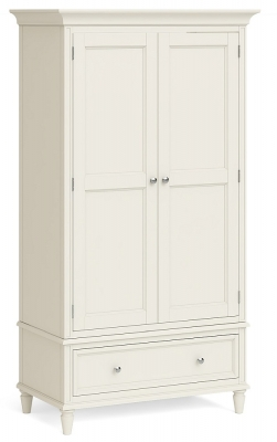 Global Home Marseille Ivory Painted 2 Door 1 Drawer Wardrobe