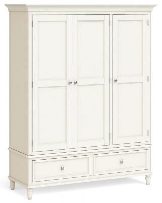 Global Home Marseille Ivory Painted 3 Door 2 Drawer Wardrobe